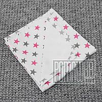 Непромокаемая пеленка 80х60 см для новорожденного (100% хлопок) двухсторонняя многоразовая 4242 Малиновый