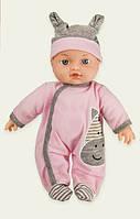 Пупс 580-Q Baby MayMay в розовом комбинезоне, мягконабивной,, высота 30 см