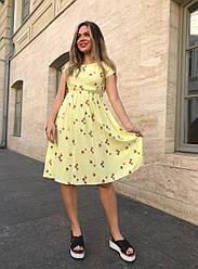 Женское платье в мелкий цветочек