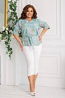 Костюм жіночий блуза + капрі 82640