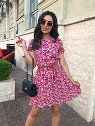 Летнее женское платье в мелкий цветочный принт