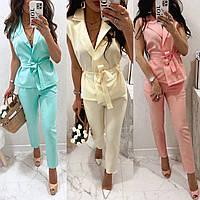 Жіночий костюм двійка (жилетка + штани) 82642