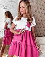 """Сукня жіноча молодіжний літній з воланом, розміри S-XL (2цв)""""MARGARET"""" купити недорого від прямого постачальник"""