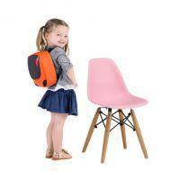 Детский стул Тауэр Вaby, пластиковый, ножки дерево бук, цвет розовый