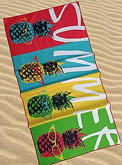 Яркое тонкое пляжное полотенце