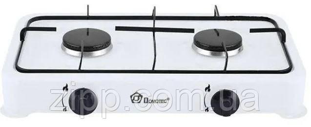 Таганок DOMOTEC MS-6662    Газовая плита настольная   Газовый таганок   Плита 2 конфорки   Портативная плита