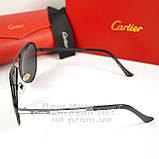 Чоловічі сонцезахисні окуляри Cartier Авіатор Aviator з поляризацією Polarized Картьє репліка, фото 2