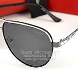 Мужские солнцезащитные очки Cartier Авиатор Aviator с поляризацией Polarized Картье реплика, фото 3