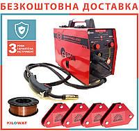 Сварочный полуавтомат Edon smart MIG MMA 290 + Магнитные угольники