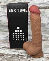 Фаллоимитатор силиконовый реалистичный на присоске 21х4,2, лучшие интимные секс игрушки для женщин
