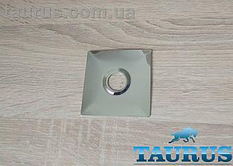 """Великий плоский н/ж фланець Cube chrome 74x74 мм, висота 3 мм, під внутрішній розмір 1/2"""" d20 мм. ThermoPulse"""