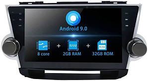 Штатная магнитола Toyota Highlander 2Gb/32Gb Android 8.1 2008-2014 год