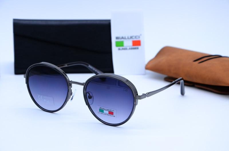 Женские круглые очки солнцезащитные Bialucci 6025 с01