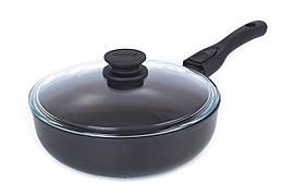 Сковорода с тефлоновым покрытием съемной ручкой и крышкой Элегант Биол 24 см 24091ПC