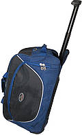 Спортивна Сумка дорожня на колесах 57L Wallaby 10428 синій з чорним