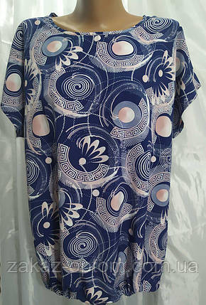 Блуза женская батал софт (50-58) Украина оптом-74306, фото 2