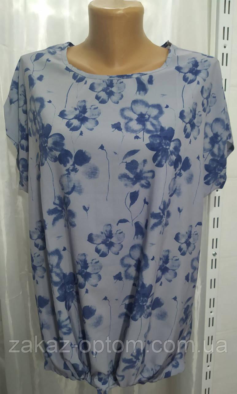Блуза жіноча батал софт (50-58) Україна оптом-74312