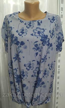 Блуза жіноча батал софт (50-58) Україна оптом-74312, фото 2