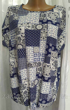 Блуза жіноча батал софт (50-58) Україна оптом-74313, фото 2