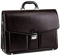 Мужской портфель для документов из эко кожи AMO SST02 коричневый