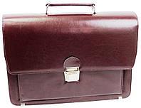 Жіноча ділова сумка, портфель з еко шкіри Amo SST09 бордовий