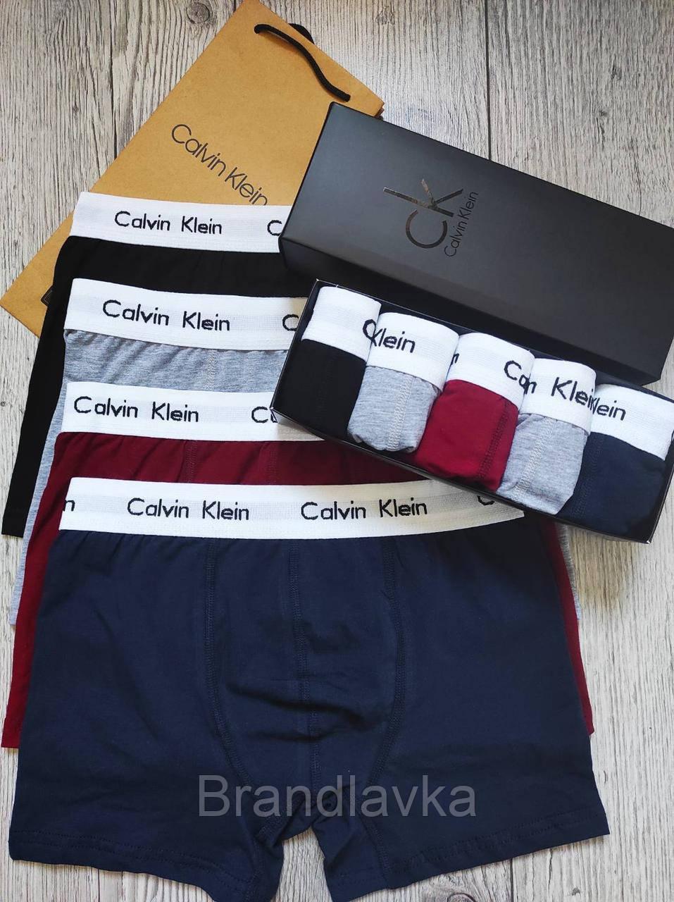 Набор мужских трусов боксеров Calvin Klein 5 шт без коробки Боксеры трусы шорты транки кельвин кляйн - фото 2