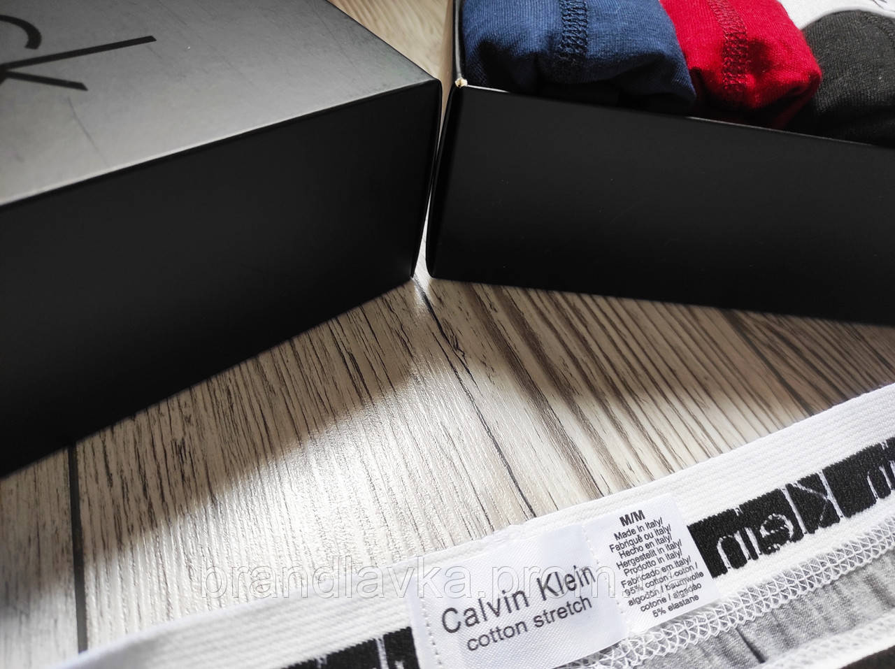 Набор мужских трусов боксеров Calvin Klein 5 шт без коробки Боксеры трусы шорты транки кельвин кляйн - фото 7
