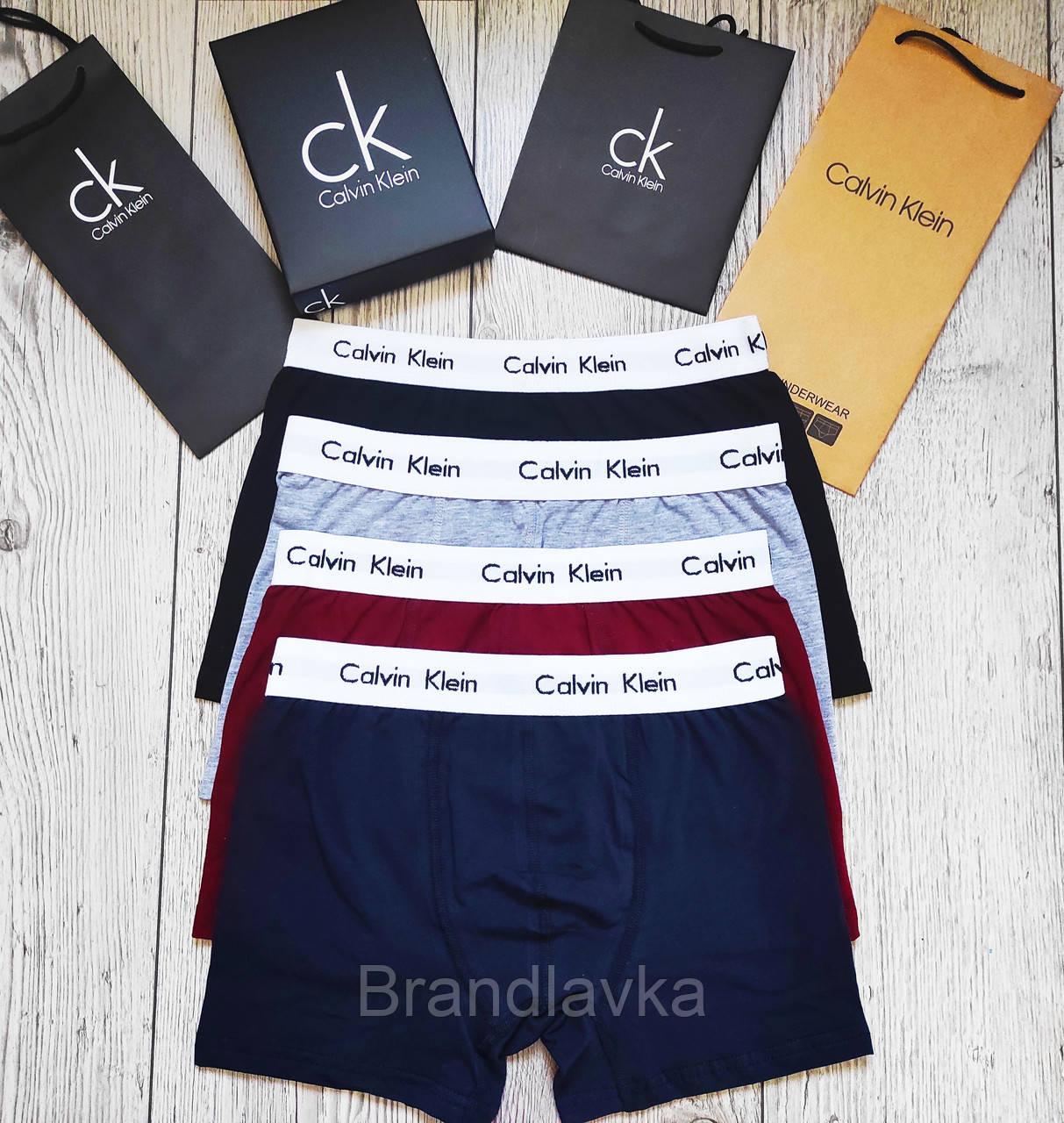 Набор мужских трусов боксеров Calvin Klein 5 шт без коробки Боксеры трусы шорты транки кельвин кляйн - фото 3