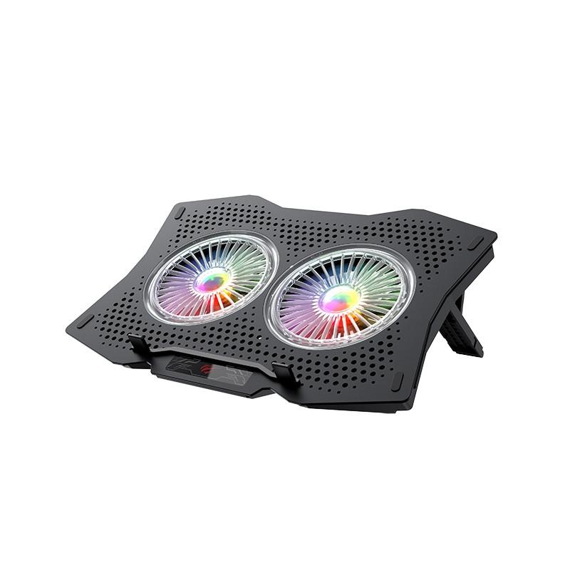 Охолоджуюча підставка для ноутбука з USB + підсвітка RGB