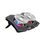 Охолоджуюча підставка для ноутбука з USB + підсвітка RGB, фото 4