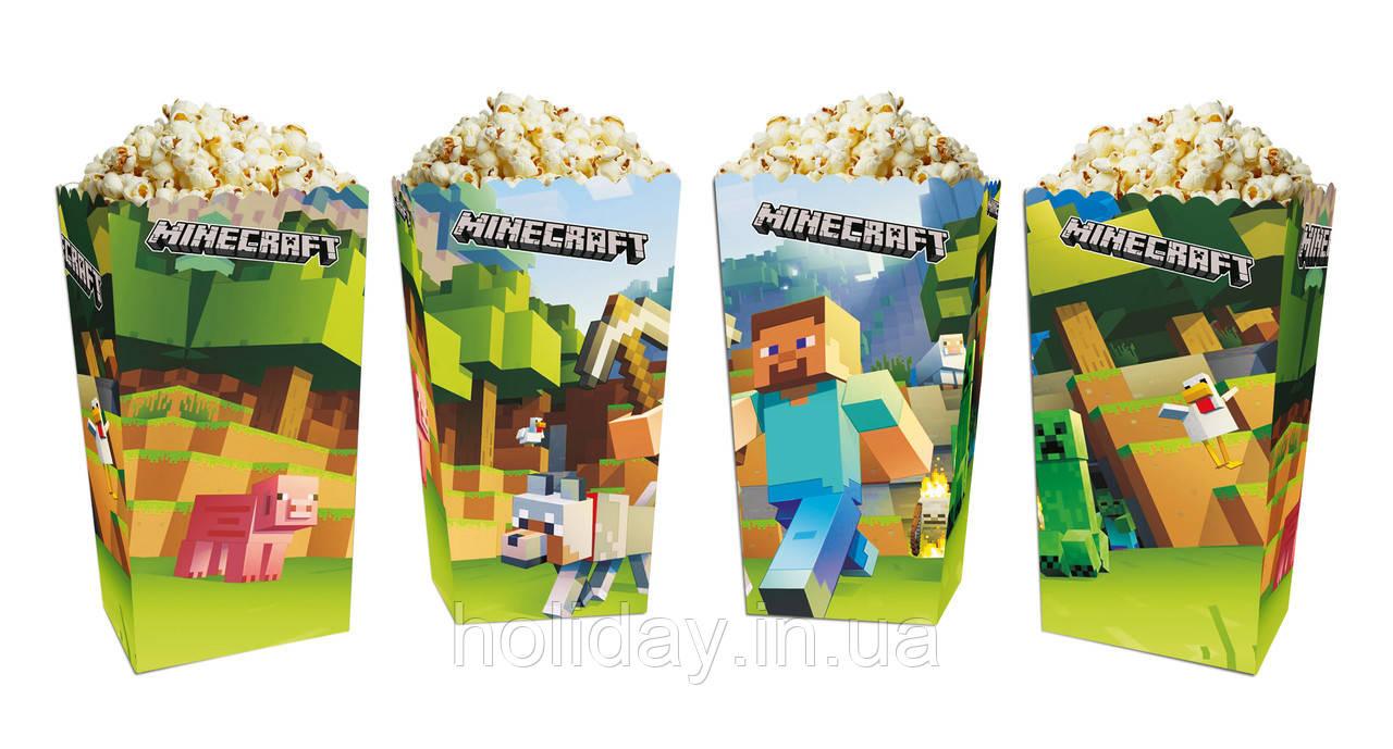 Коробки для солодощів і попкорну Майнкрафт (5 штук)