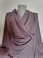 Сиренево серая Плательная Блузочная Ткань Отрез на платье на блузку 1,5 м на 1,5 м Шёлк