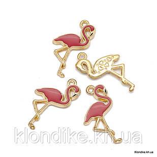 Кулон Фламинго, из Сплава, Эмалированный, 26x14x2.5мм, Цвет: Пурпурный (4 шт)