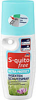 S-quito free Insektenschutzspray Ultra Protect Ультра защита от комаров 100 мл