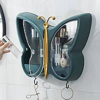 Органайзер для косметики у формі метелика зелений