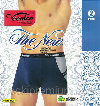 Трусы мужские боксеры хлопок Veenice, размеры XL-4XL, 34084