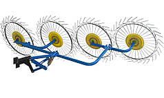 Грабли Солнышко для мототрактора, мотоблока на 4 колеса (ГРВ 4)