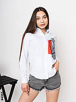 """Сорочка жіноча з різним принтом, р-ри S-L (6кол) """"NOWEMBER"""" недорого від прямого постачальника"""