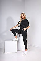 Стильный женский летний брючный трикотажный костюм : блузка + брюки р.42-46. Арт-2444/15, фото 1