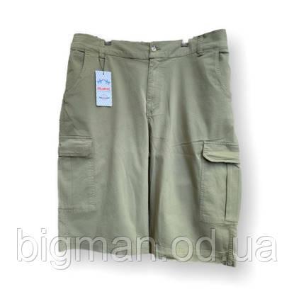 Мужские хлопковые шорты IFC 17034 58-66 размер хаки большие размеры батал Турция