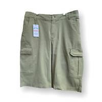 Мужские хлопковые шорты IFC 17034 58-66 размер хаки большие размеры батал Турция, фото 1