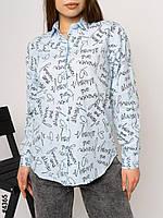 """Сорочка жіноча з різним принтом, р-ри S-L (7цв) """"NOWEMBER"""" недорого від прямого постачальника"""