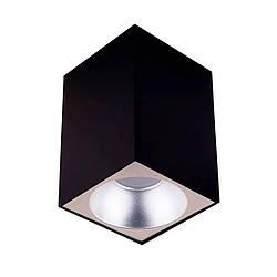 Точечный светильник MJ-Light 8001S BK + 3001S SS