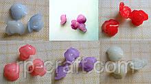 Ґудзик пластиковий, декоративний. Трояндочка, 17 мм