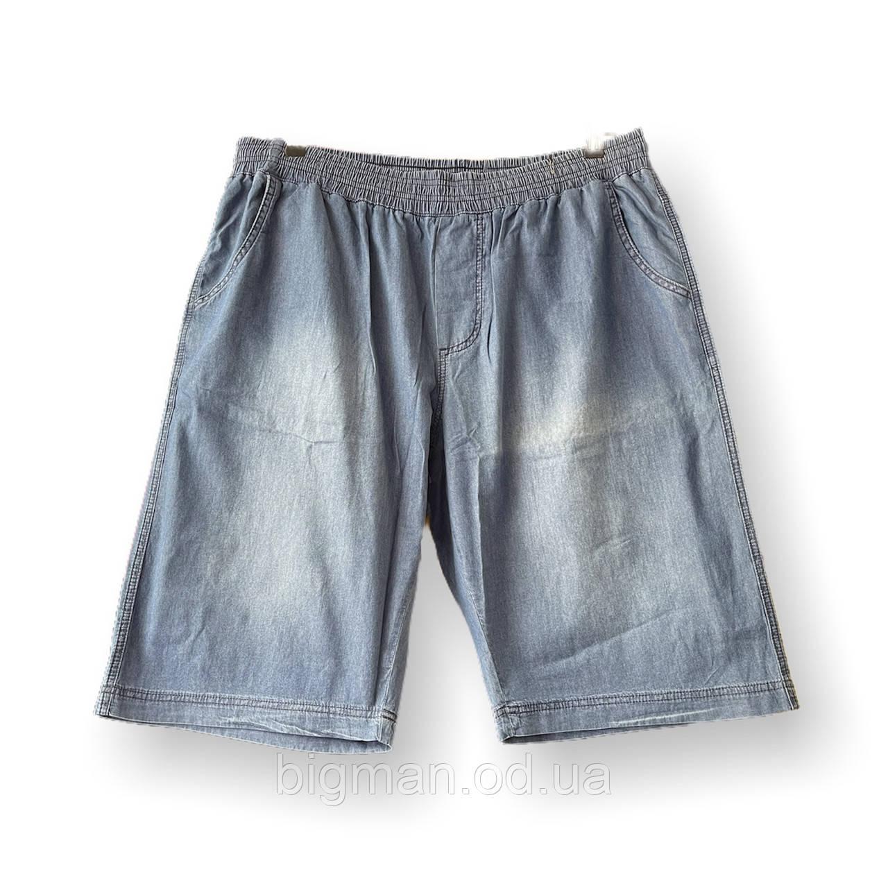 Мужские джинсовые шорты Olser 17036 6-13XL синие большие размеры батал Турция