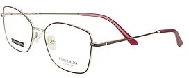 Оправа ободковая, з тонкого металу, бордова, для жінок, Corrado