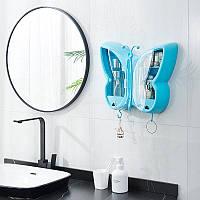 Органайзер для косметики у формі метелика блакитний