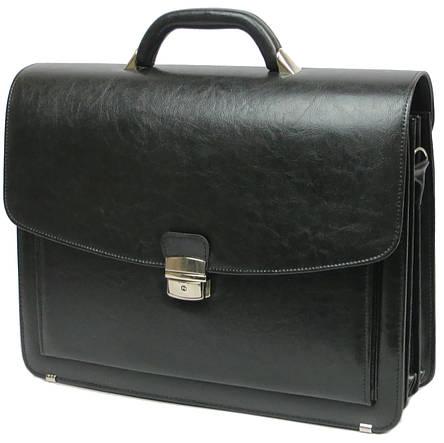 Портфель из кожзаменителя Jurom Польша 0-36-111 черный, фото 2