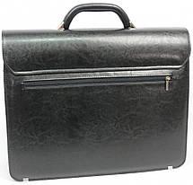 Портфель из кожзаменителя Jurom Польша 0-36-111 черный, фото 3