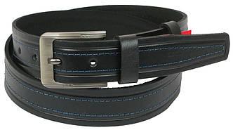 Мужской кожаный ремень под джинсы Skipper 1065-38 черный 3,8 см, фото 2